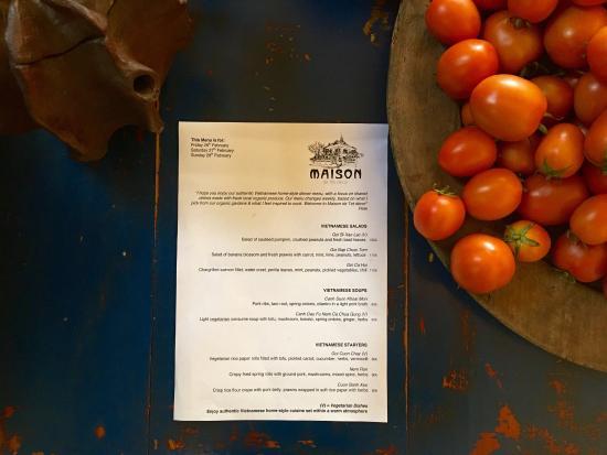 Maison de Tet decor menu, cakes and staff - Picture of ...