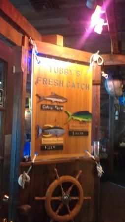 "Thunderbolt, GA: ""Catch of the Day"" sign"