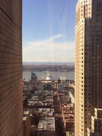 View of the Hudson River from our room