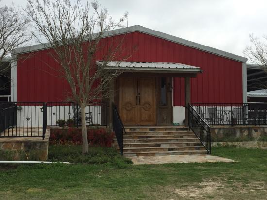 Burton, TX: the winery room