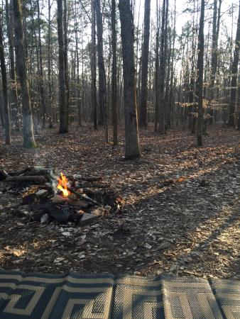 Wall Doxey State Park: Chillin by the afternoon fire at Wall Doxey RV Camping site