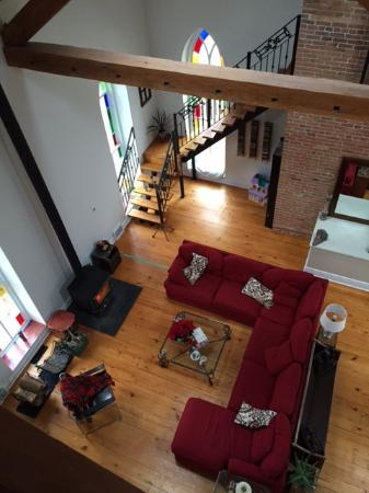 Manilla, Canada: View from the loft bedroom of the main sitting area