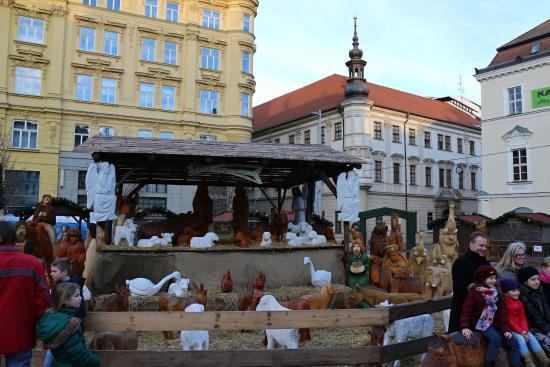 Brno, República Checa: náměstí během vánočních svátků