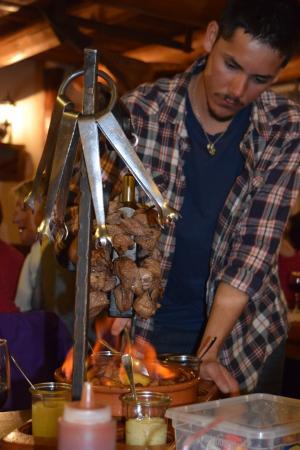 Flamb e de la potence viandes pommes de terres photo - La poutre valloire ...