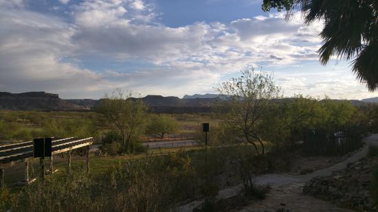 Lajitas, TX: View from restaurant/patio