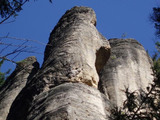 Teplicke skaly Čapí vrch