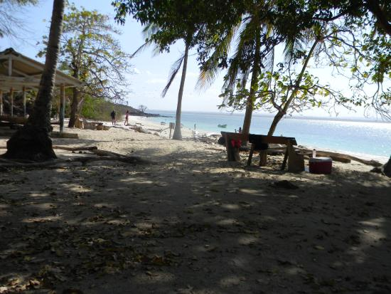 Провинция Лос- Сантос, Панама: shade above the beach. So there is water, sand and also shade...no worries!