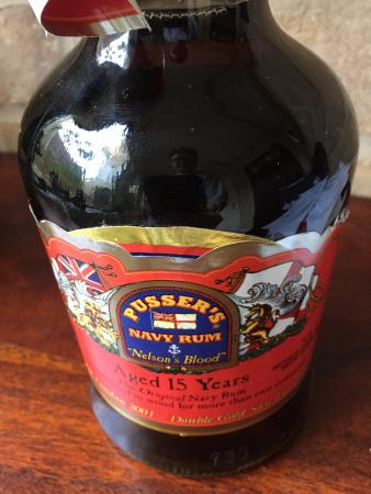 Pusser's Road Town Pub: Bottle of Pusser's Special edition Rum bought at the Pusser store