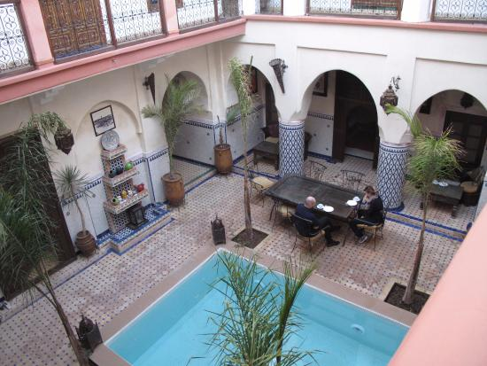 Dar Moulay Ali: view from the second floor.