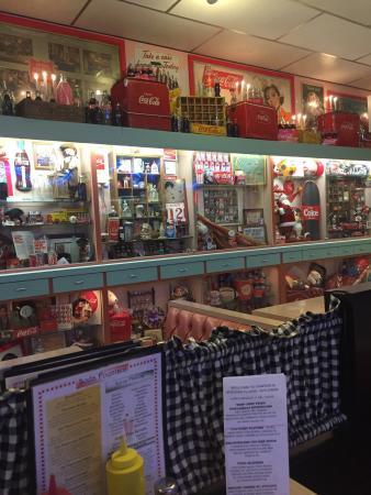 The Coca Cola Memorabilia Surrounds The Restaurant Picture Of