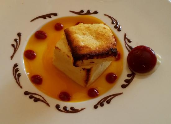 La Villa : Cheese cake chaud et son coulis