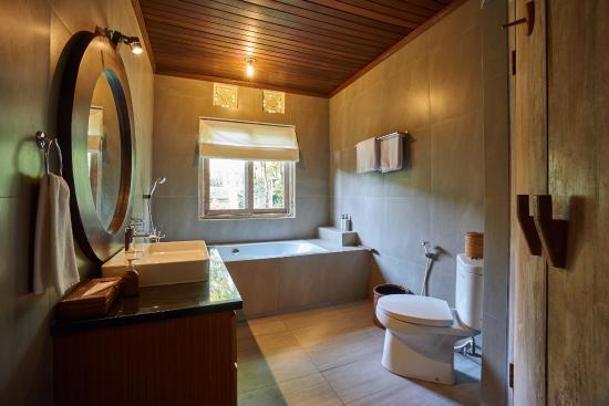 Tegal Sari: Bathroom of Deluxe Garden View Room