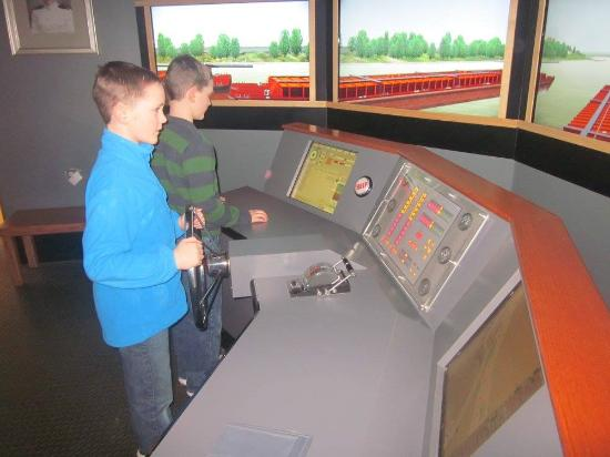 River Discovery Center: My boys loved the simulator.
