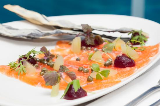 Salsa Bar & Grill: Macrobiotic Salt Cured Salmon