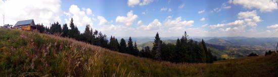 Slavs'ke, Ukraina: Панорама на горе Тростян