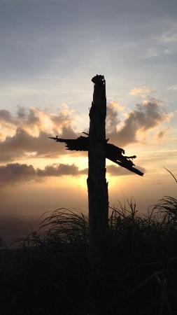 Agat, Mariana Islands: one of the crosses on Mt Jumullong Manglo