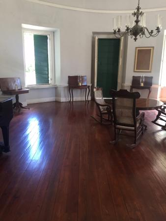 Estate Whim Museum: Room for entertaining guests in the Great House.