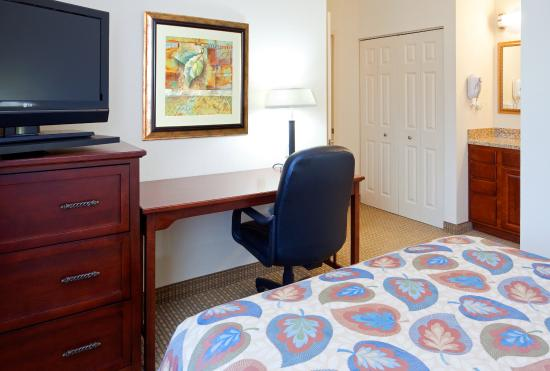 Staybridge Suites Durham-Chapel Hill-RTP: Workspace area in Queen Bedroom of our Two Bedroom Suite