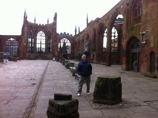 Coventry, UK: View of the inside of the ruins.