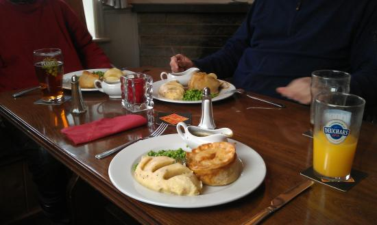 Wittersham, UK: Home made pies - tasted great.