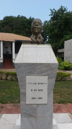 W.E.B. Dubois Center: Bust outside museum
