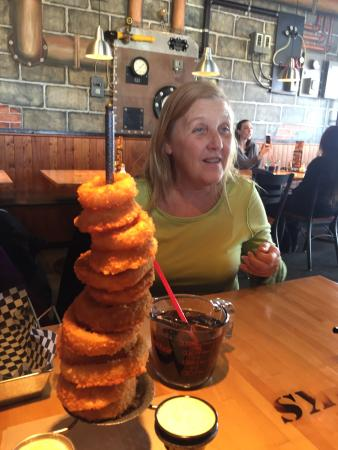 The Works: Tower of rings and a measuring cup of ice tea