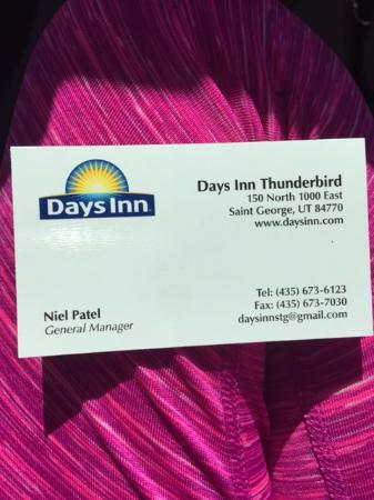Gm business card quotnothing we can doquot picture of days inn for Gm business card login