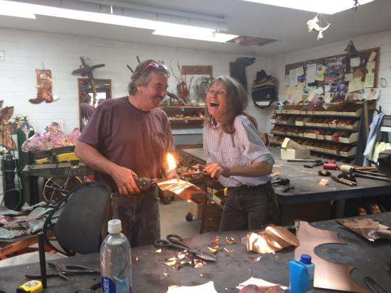 Tubac, AZ: Larry & Jackie Tursi the local artists behind the magic.