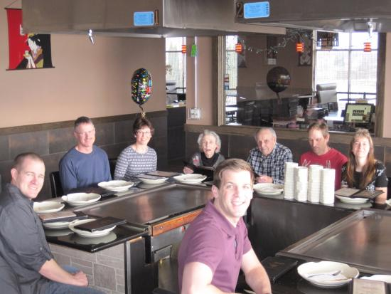 Ninja Japanese Steak House: some of our group