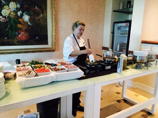 the breakfast buffet with yummy omelet station picture of 96th rh tripadvisor com