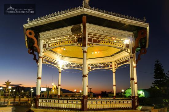 San Marcos, กัวเตมาลา: Kiosco al amanecer. Este tipo de paisaje se puede observar la mayor parte del año.