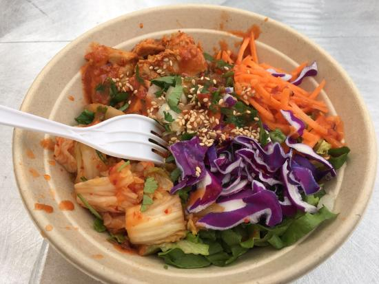 The Food Truck Outside The Convention Center The Spicy Pork Kimchi