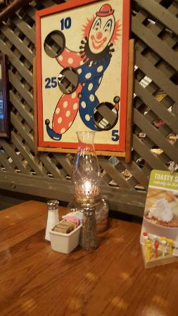 Park City, KS: Table at cracker barrel