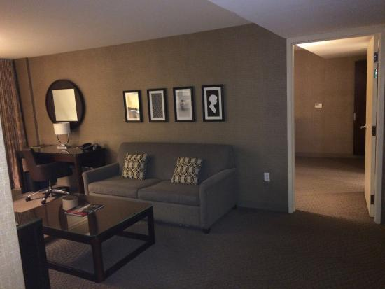 Living Area With Entrance To Master Bedroom In 2 Bedroom Suite