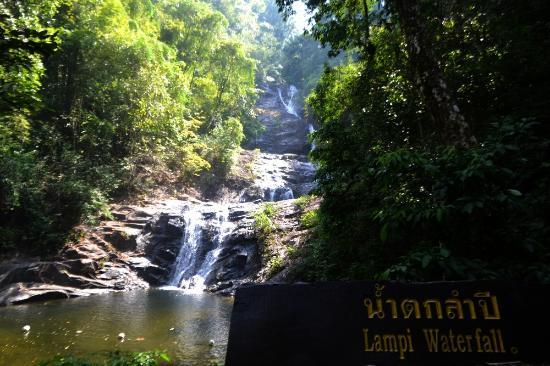 Thai Mueang, Thailand: первый уровень водопада