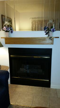 Laurel Inn Condominiums: Fireplace