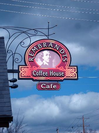 Rembrandts: Rembrandt's Coffee House sign