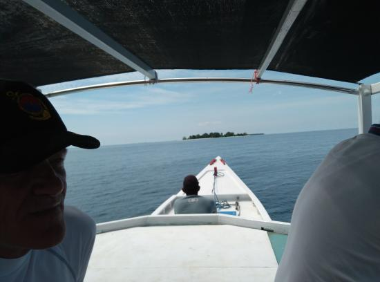 Nirwana Laut Resort: Staff (mr sarijoh) organized a boat to take us for a private bbq picnic on private island.