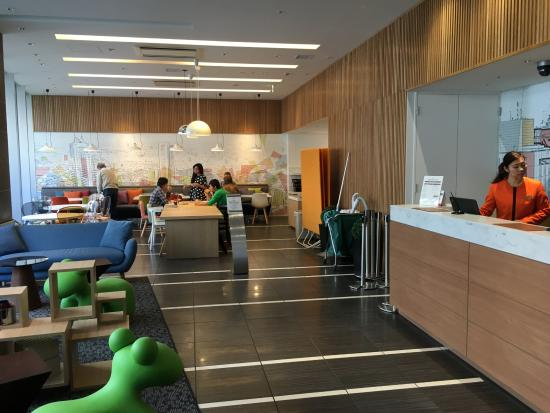 Small Hotel Lobby And Dining Area Picture Of Citadines