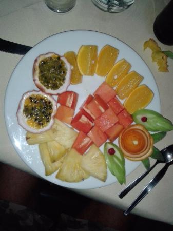 Il Cucciolo Family Restaurant : piatto di frutta