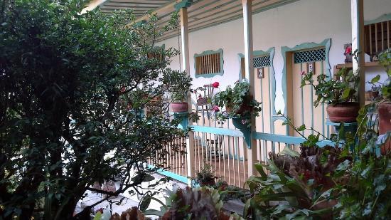 La Posada del Cafe: L'entrée de la chambre 6 que nous occupions