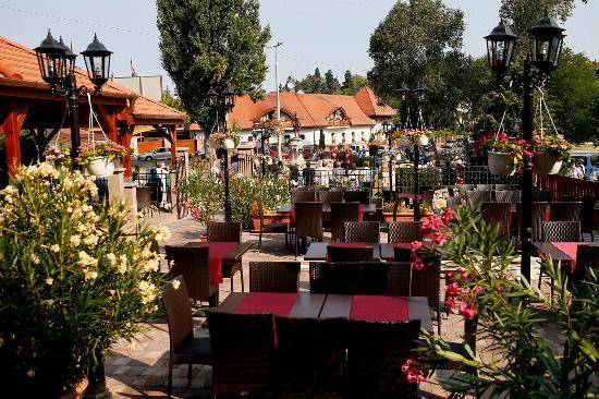 Heves County, Hungary: virágos zenés teraszunk