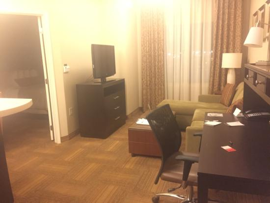 king bed comfy couch delightful one room apartment this was a rh tripadvisor com