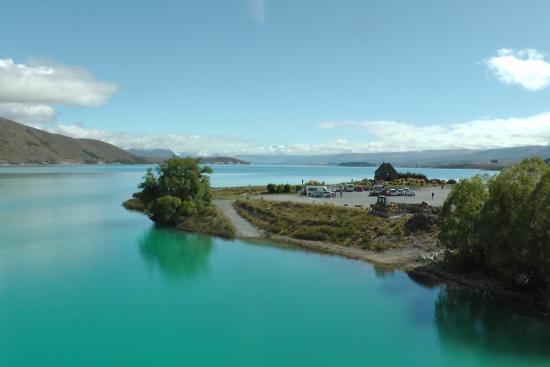 Parkbrae Estate: Vlak bij onze cottage, blik op Lake Tekapo