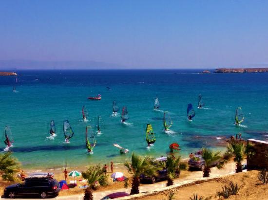 Nea Chryssi Akti, Grækenland: windsurfing race !!!