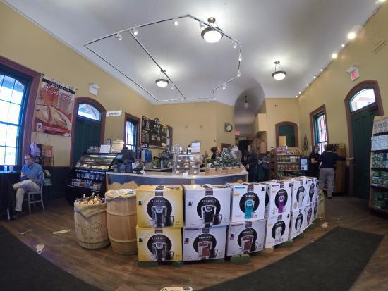Waterbury, VT: Vista hacia la cafeteria