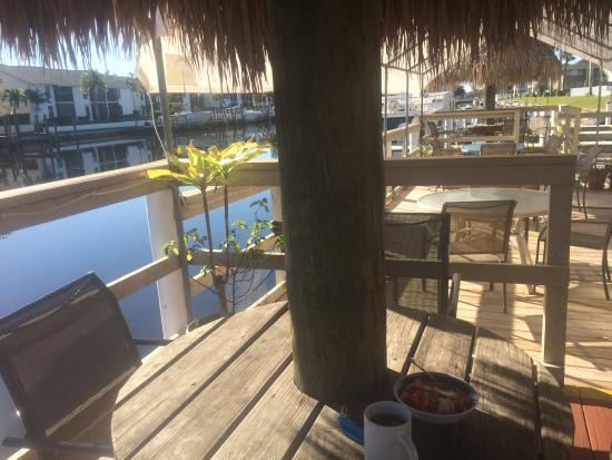 Hideaway Waterfront Resort & Hotel: My breakfast spot