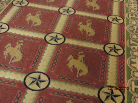 Hampton Inn & Suites Stephenville : Cowboy-Style carpeting in hallway