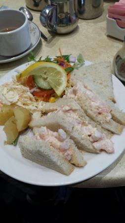 Lovely prawn sandwiches