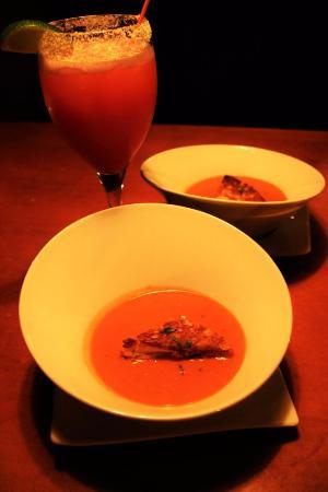 Stratton Mountain, VT: tomato soup and blood orange margarita